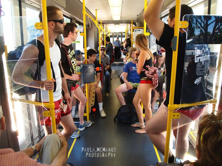 No Pants Tram Ride Adelaide 2011