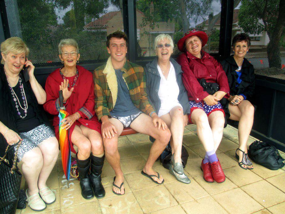 No Pants Tram Ride Adelaide 2014